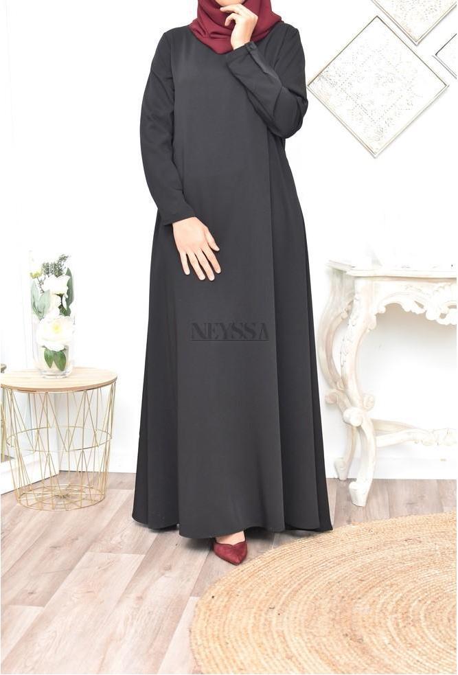 Abaya longue évasée femme voilée