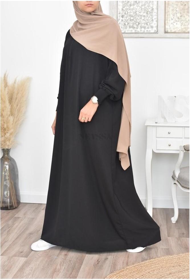 Abaya papillon longue noire en ligne
