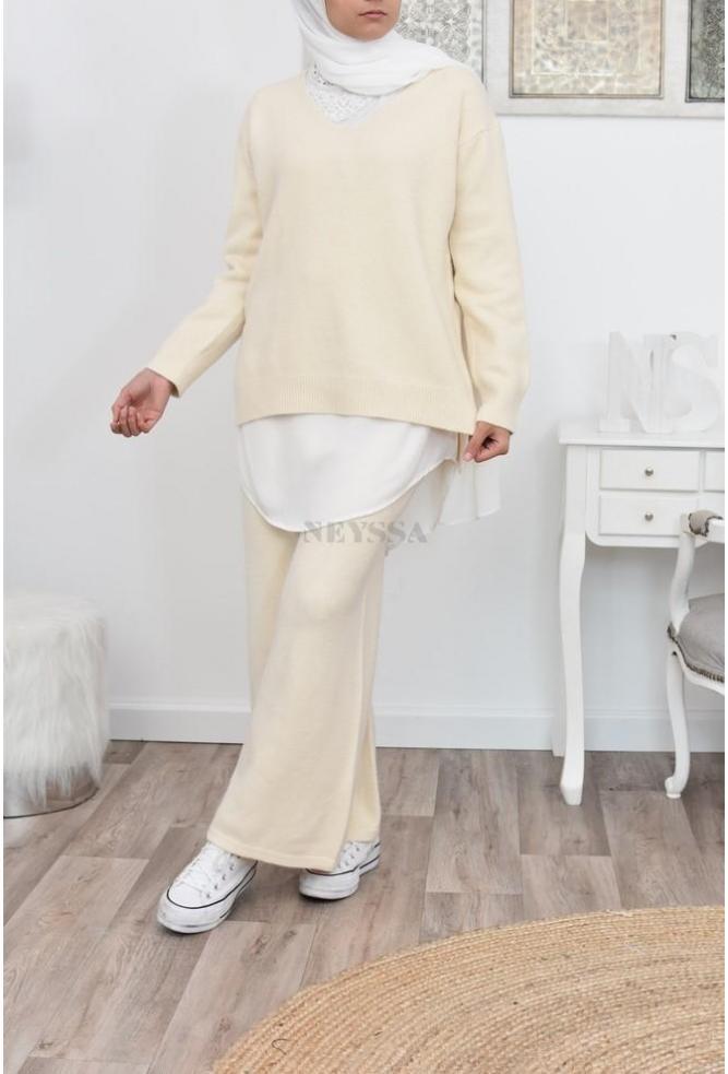 Ensemble pull et pantalon laine pas cher