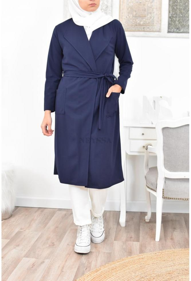 Long cardigan trench hijaber