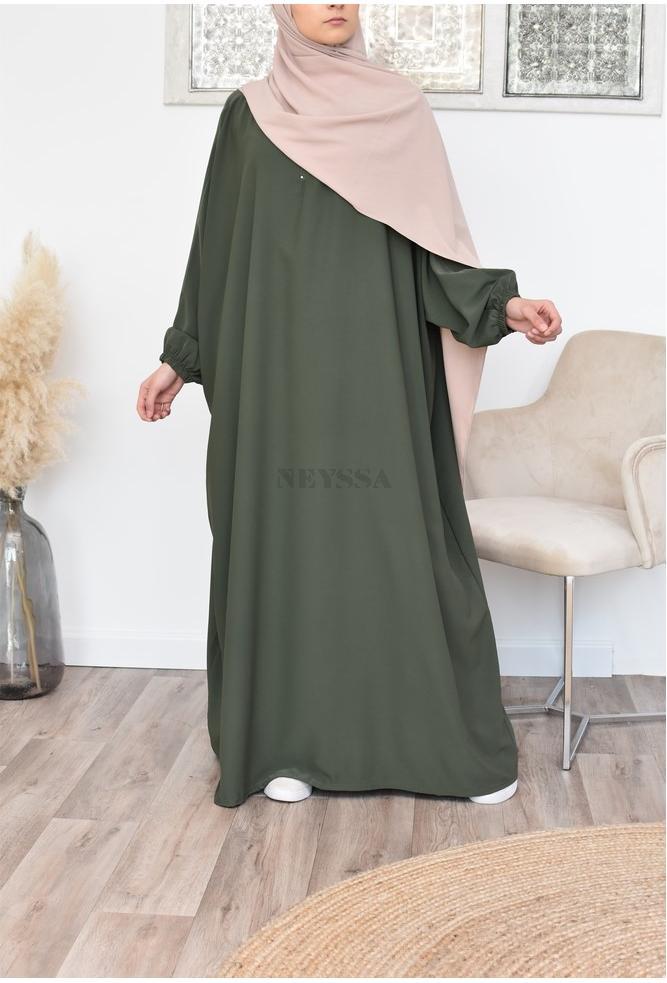 Longue abaya papillon allaitement fluide