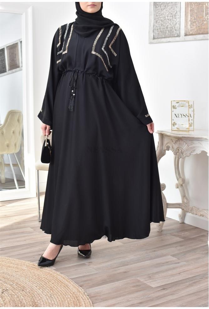 Abaya Dubai Qhadriya Noire