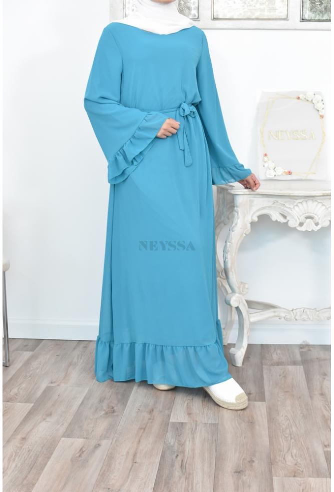 maxi flared chiffone dress