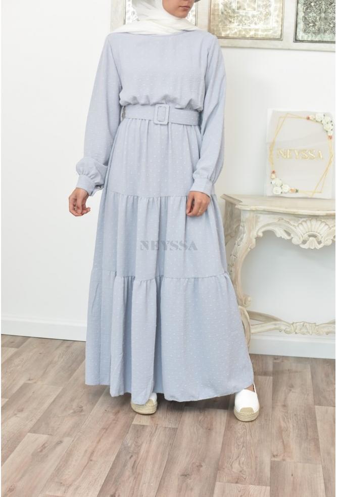Flowing and mastoura dress Bohemian off-white