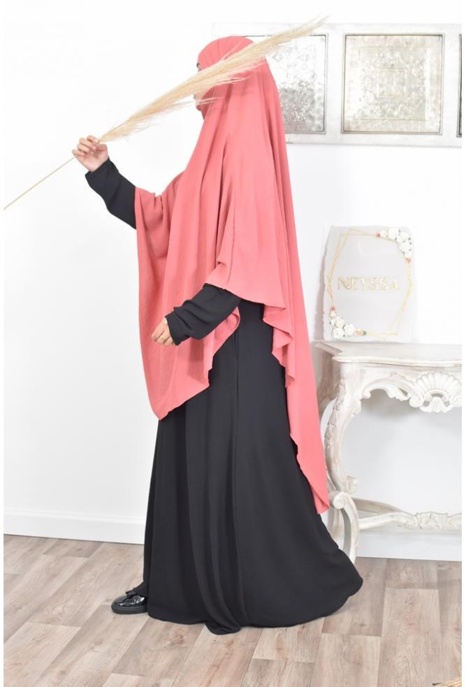 Khimar long pointu femme musulmane