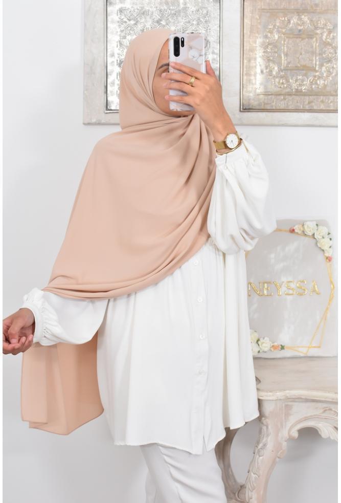 Maxi hijab OPAQUE Crêpe mousseline 2mètres