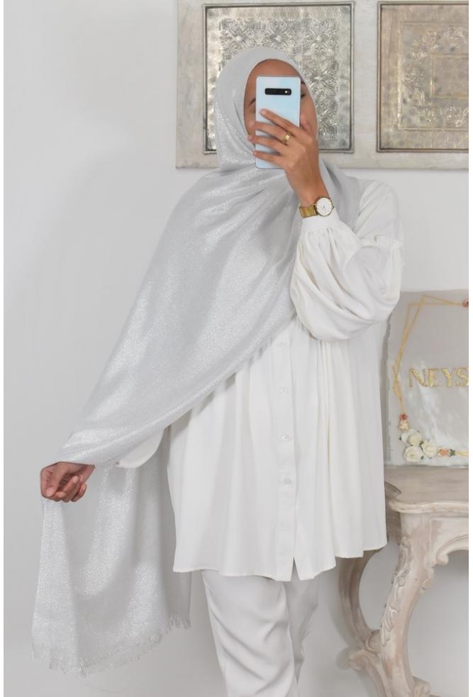 Hijab de fête pashmina
